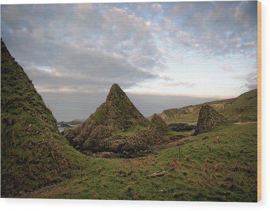 Jurassic Coastline At Ballintoy Wood Print