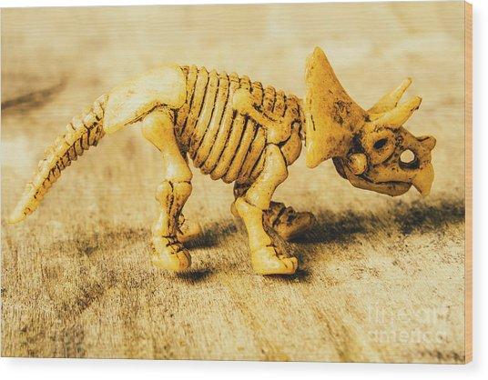 Jurassic Toy Triceratops Wood Print