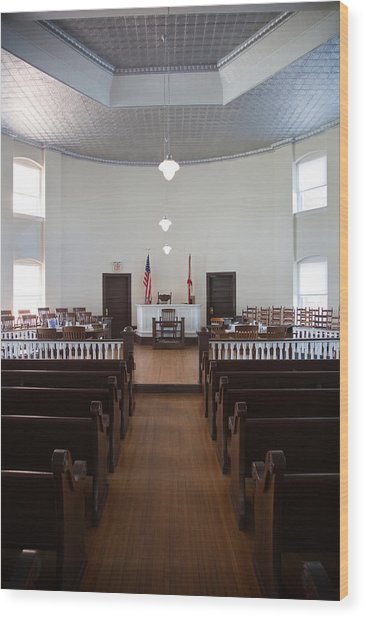 Jury Box In A Courthouse, Old Wood Print