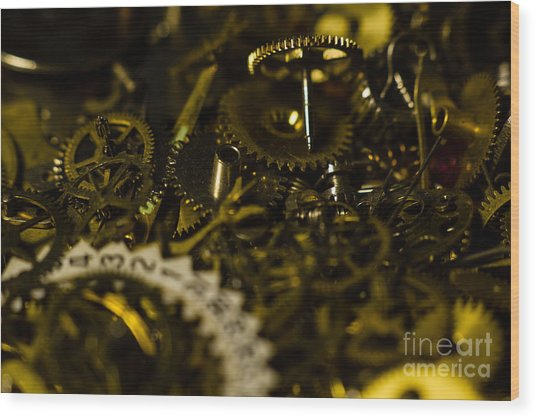 Just A Cog In The Machine 2 Wood Print