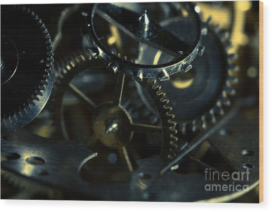 Just A Cog In The Machine 5 Wood Print
