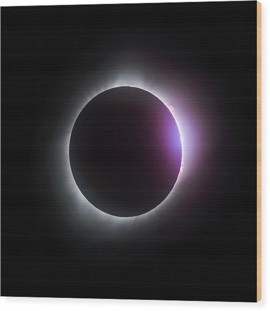 Just After Totality - Solar Eclipse August 21, 2017 Wood Print