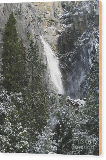 Just Another Morning In Yosemite Wood Print by Stan and Anne Foster