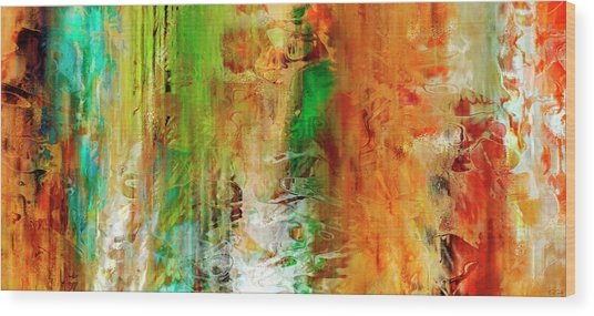 Wood Print featuring the painting Just Being - Abstract Art by Jaison Cianelli