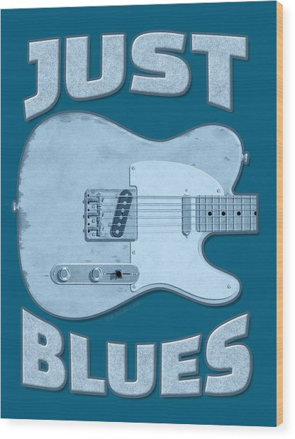 Just Blues Shirt Wood Print
