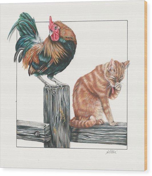 Just Chillin Wood Print