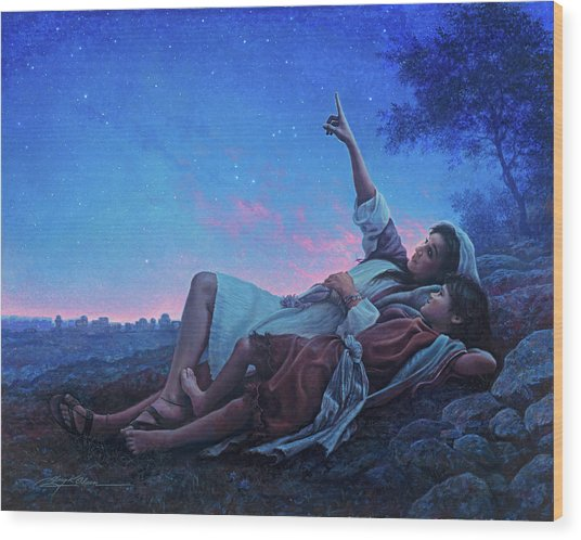 Wood Print featuring the painting Just For A Moment by Greg Olsen