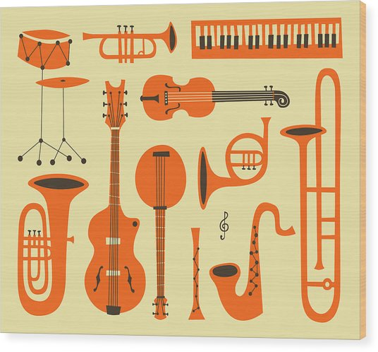 Just Jazz Wood Print