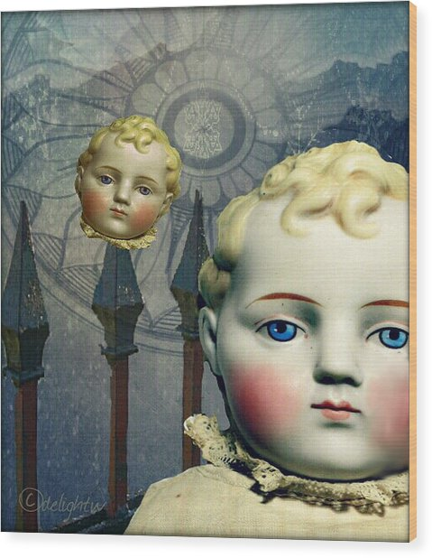 Wood Print featuring the digital art Just Like A Doll by Delight Worthyn