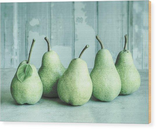 Just Pears Wood Print
