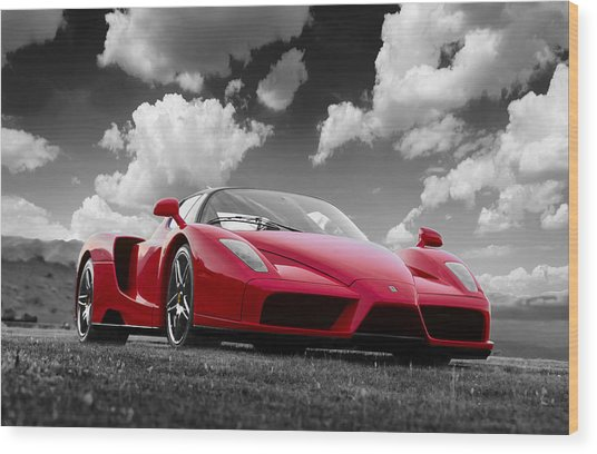 Just Red 1 2002 Enzo Ferrari Wood Print