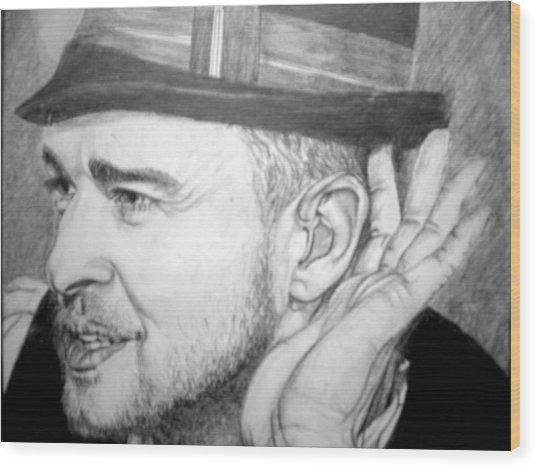 Justin Timberlake Wood Print by Sean Leonard