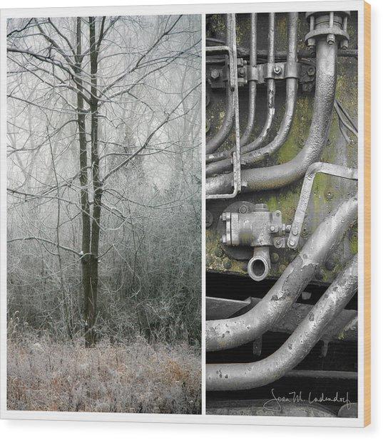 Juxtae #61 Wood Print