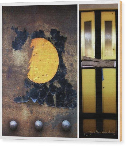Juxtae #78 Wood Print