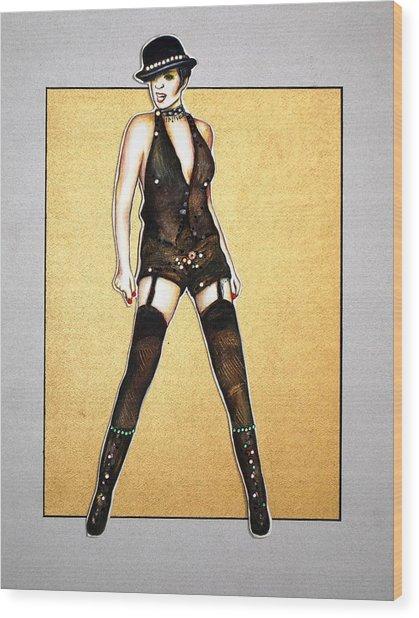 Kabaret Wood Print by Joseph Lawrence Vasile