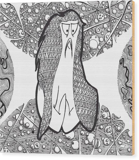 Kabuki Spaceghost Wood Print