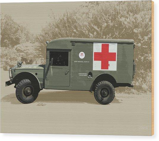Kaiser Jeep M725 Army Wood Print