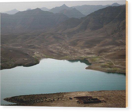 Kajaki Lake In Helmand Province Afghanistan Wood Print