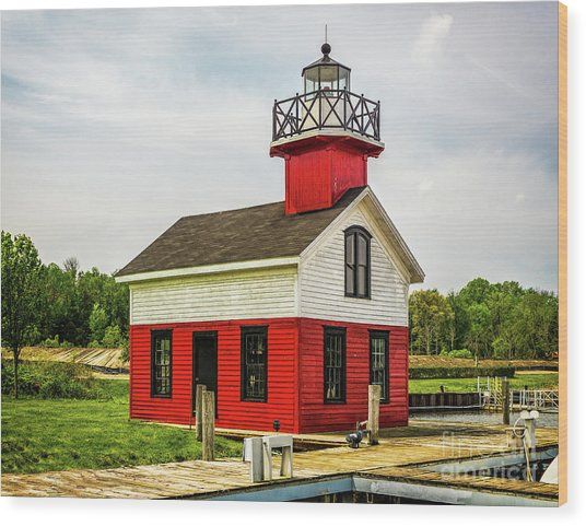Kalamazoo Lighthouse Wood Print