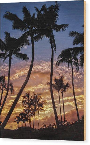 Kalapki Sunset Wood Print