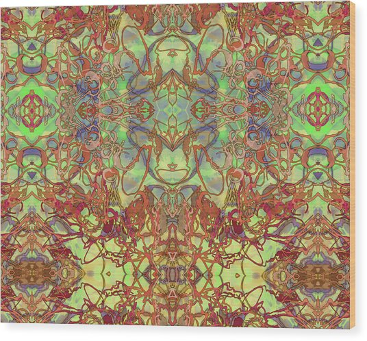 Kaleid Abstract Tapestry Wood Print