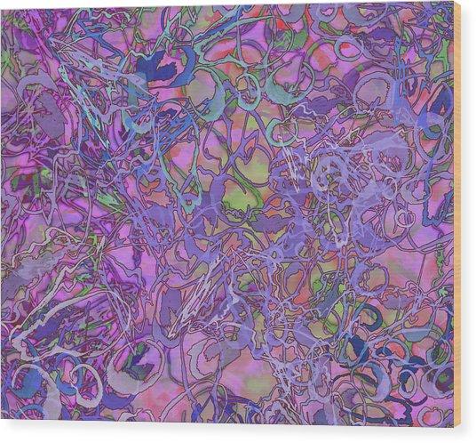 Kaleid Abstract Trip Wood Print