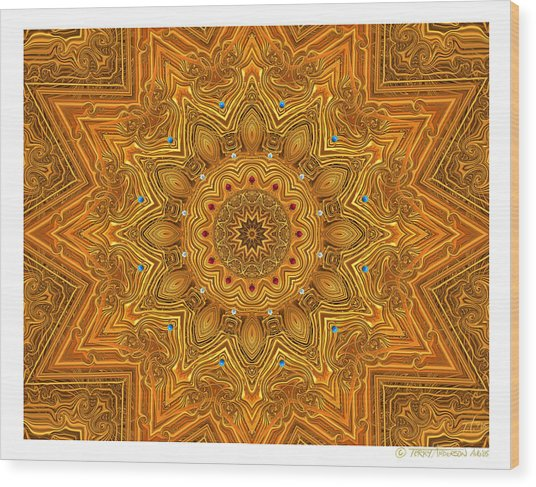 kaleido Prf10 X7x 17b Wood Print by Terry Anderson