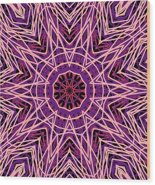 Kaleidoscope 147 Wood Print