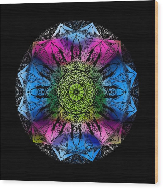 Kaleidoscope - Colorful Wood Print