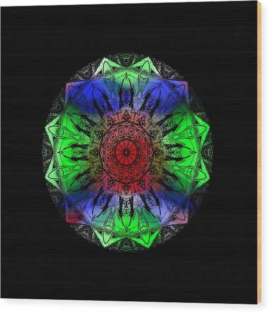 Kaleidoscope Wood Print