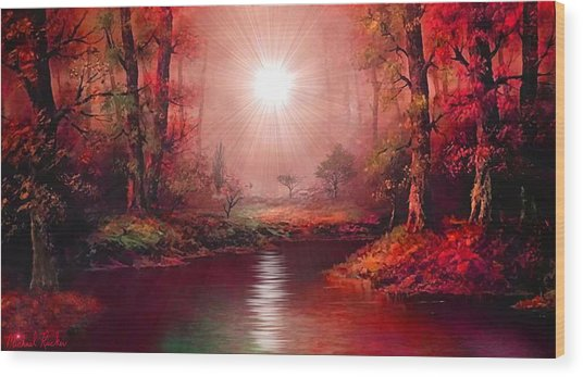 Kaleidoscope Forest Wood Print