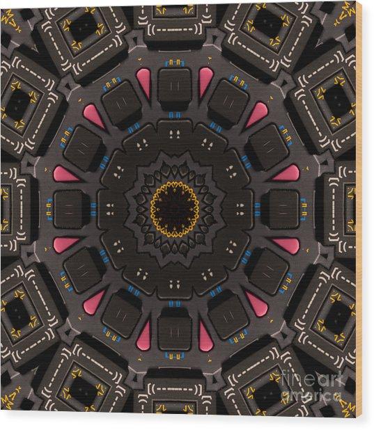 Kaleidoscopic Calculator Wood Print by Rolf Bertram