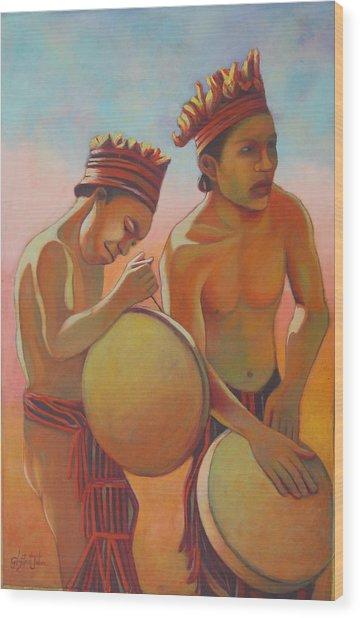 Kalinago Rhythm Wood Print