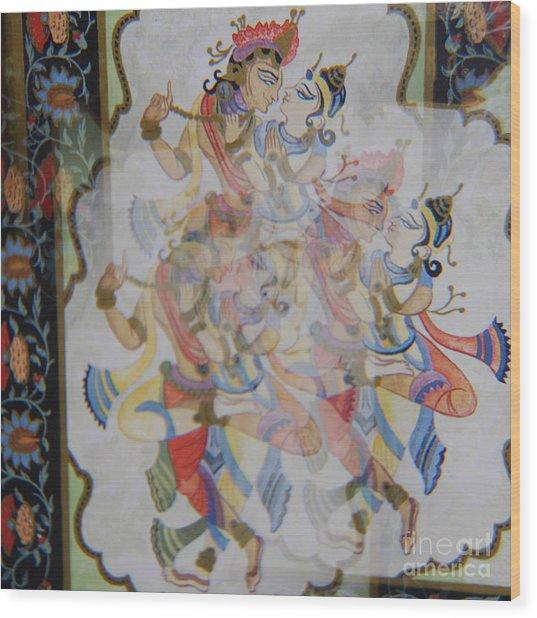 Kama Sutra Thrice Wood Print by Sean-Michael Gettys