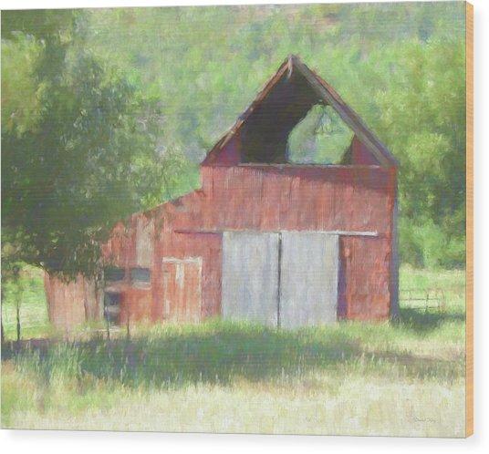 Kamas Barn Dop Wood Print