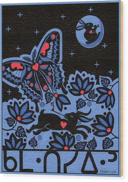 Wood Print featuring the painting Kamwatisiwin - Gentleness In A Persons Spirit by Chholing Taha