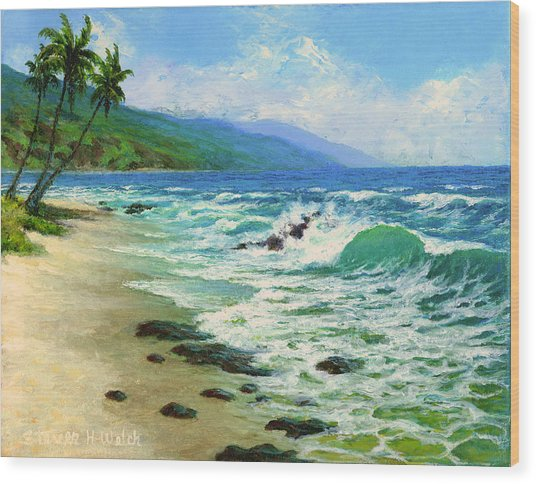 Kanaha Beach Wood Print by Steven Welch