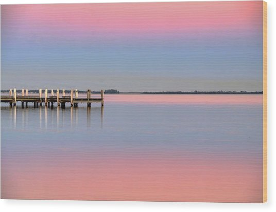 Kanahooka Pier Wood Print by RDN Photography