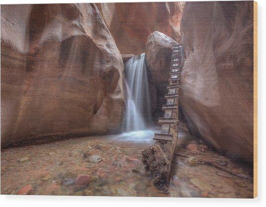 Kanarra Creek Falls Wood Print
