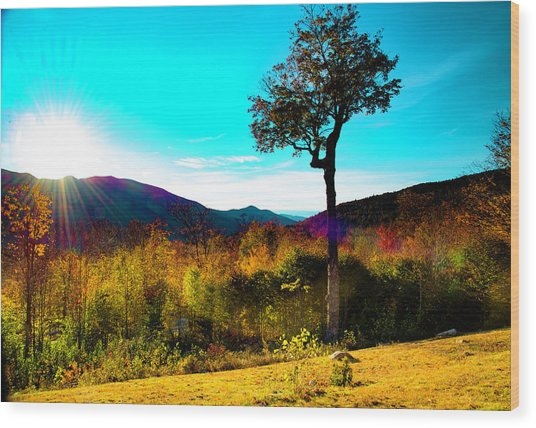 Kancamagus Sunset Wood Print