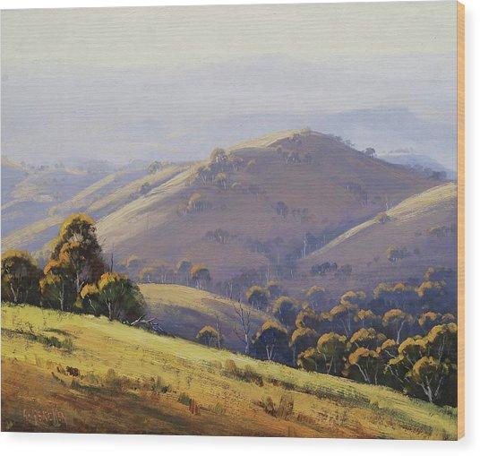 Kanimbla Hillscape, Australia Wood Print