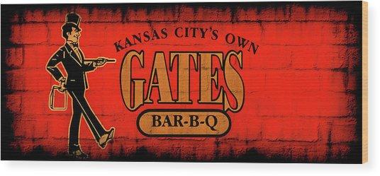 Kansas City's Own Gates Bar-b-q Wood Print