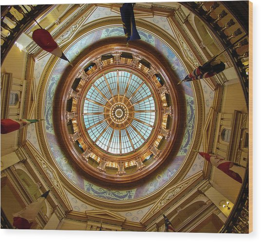 Kansas Dome Wood Print