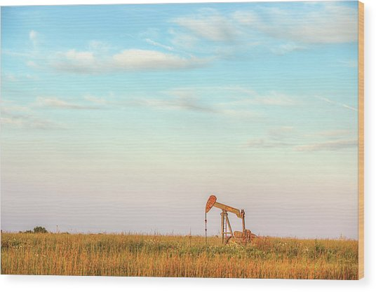 Kansas Energy  Wood Print by JC Findley