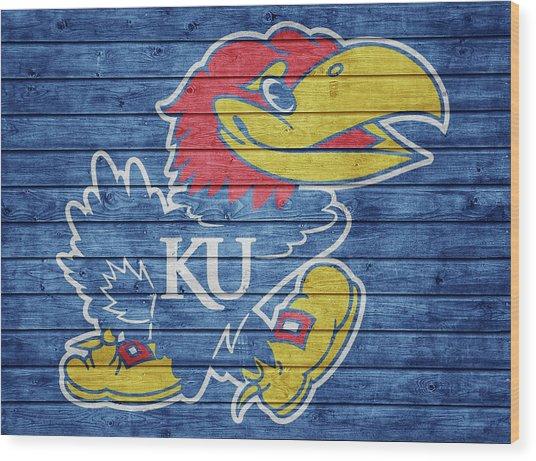 Kansas Jayhawks Barn Door Wood Print