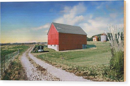 Kansas Landscape II Wood Print