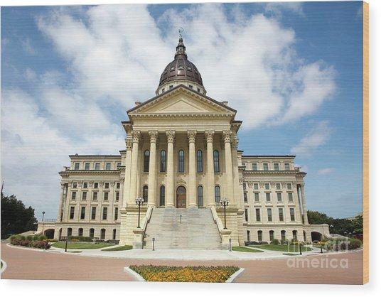 Kansas State Capitol Building Wood Print