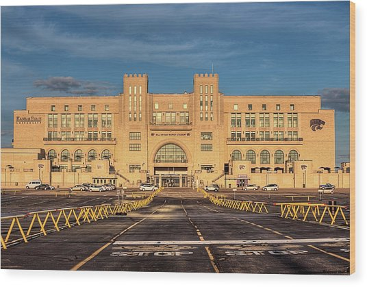 Kansas State Stadium Wood Print by JC Findley
