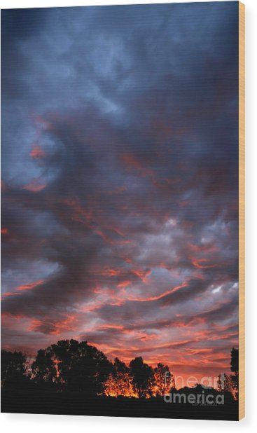 Kansas Sunrise Vertical Wood Print