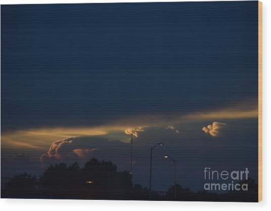 Kansas Sunset Angel Wood Print